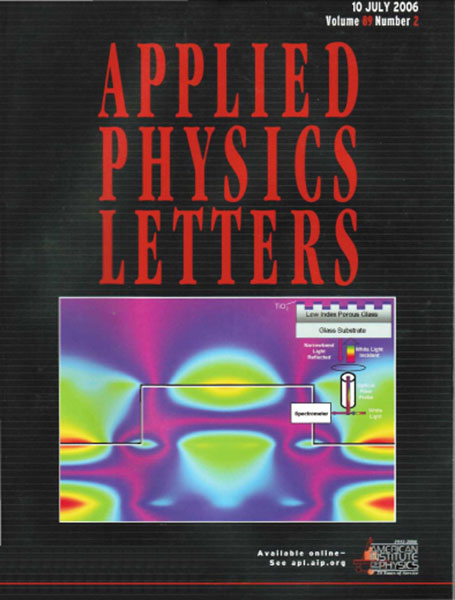Applied Physics Letters cover July 2006