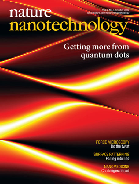 Nature Nanotechnology cover August 2007
