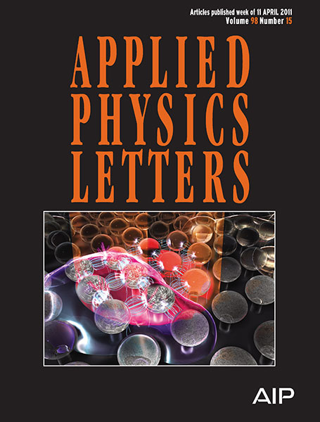 Applied Physics Letters cover April 2011