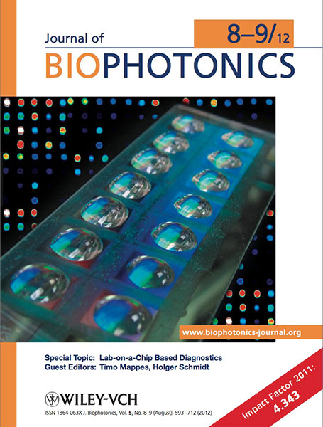 Journal of Biophotonics cover September 2012