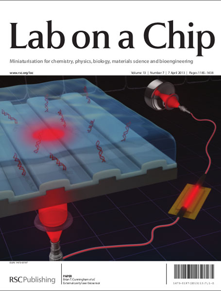 Lab on a Chip cover April 2011