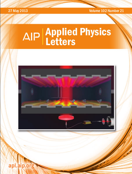 Applied Physics Letters cover May 2013