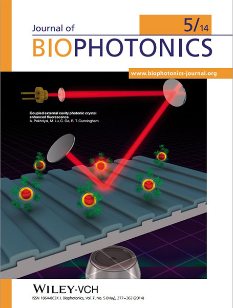Journal of Biophotonics cover May 2014