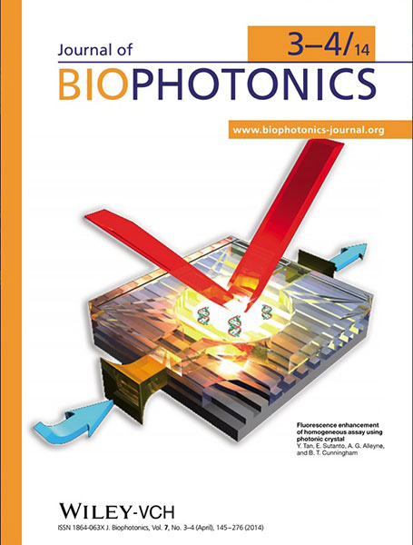 Journal of Biophotonics cover April 2014
