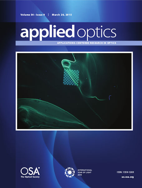 Applied Optics cover March 2015